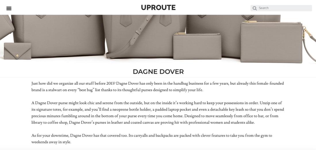 Dagne Dover Uproute