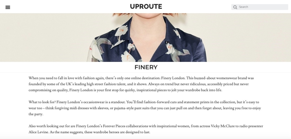 Finery Uproute