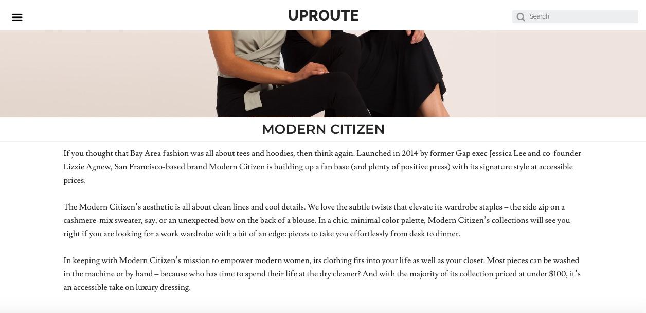 modern citizen uproute